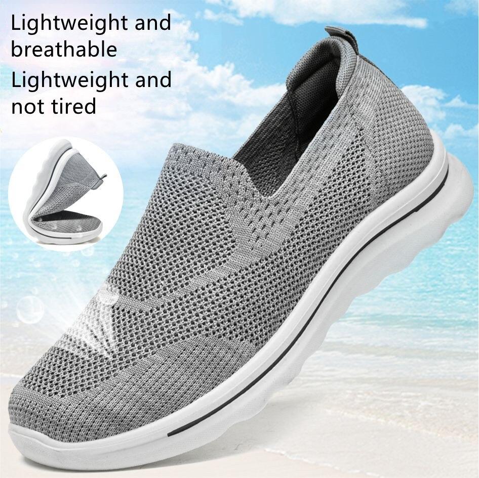 zapatillas hombre Mocasines suaves para hombre, zapatos informales de malla, ligeros y baratos, para verano