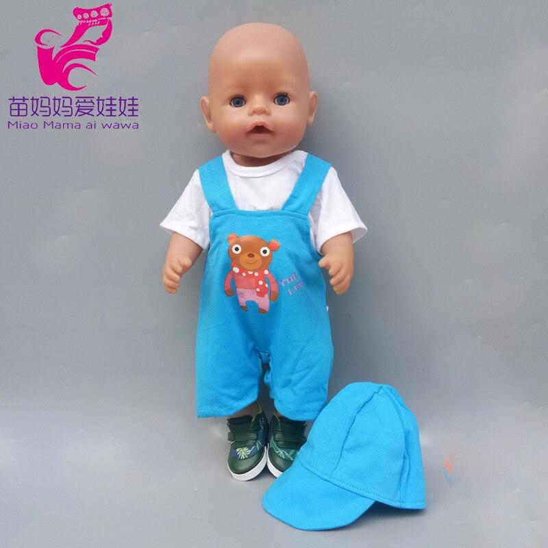 """Ajuste para la ropa de la muñeca del bebé de 43cm pijamas de renos ropa suave de la muñeca para las muñecas reborn del bebé de 17 """"abrigo niños muñeca juguetes desgaste"""
