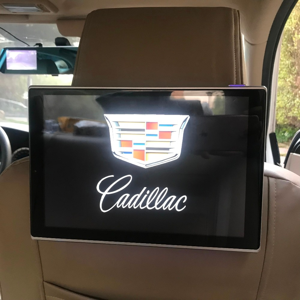 Monitor para reposacabezas de coche Android 11,8, inalámbrico, con WiFi y conexión USB de 9,0 pulgadas para Cadillac SRX, sistema de entretenimiento para asiento trasero