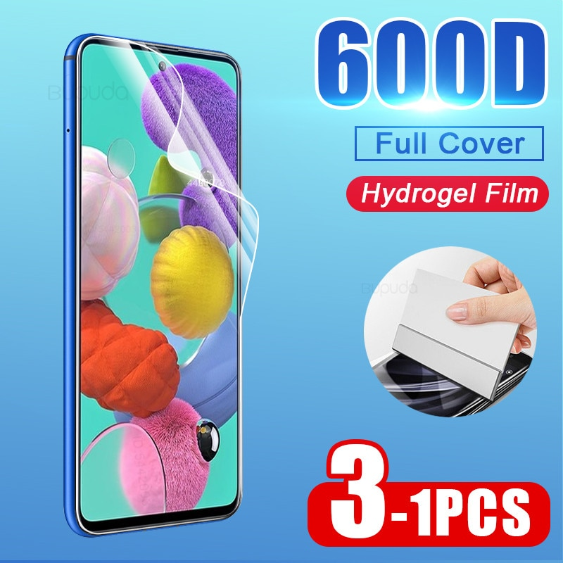 Screen Protector For Samsung Galaxy A51 A71 A50 A70 A30 Hydrogel Film on Samsung A20 A10 M30 M10 M20 A40 A60 Soft Film Not Glass