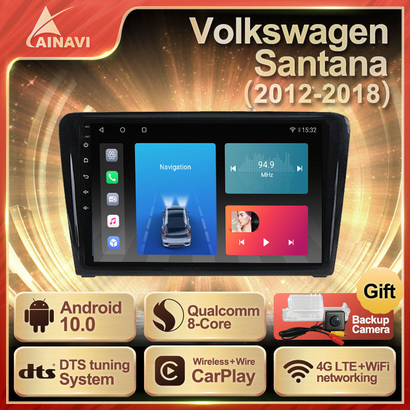 Car Radio Android10 QLED Screen For Skoda Rapid Volkswagen Santana 2012-2018 Auto Stereo Multimedia Video Player Carplay NO 2din