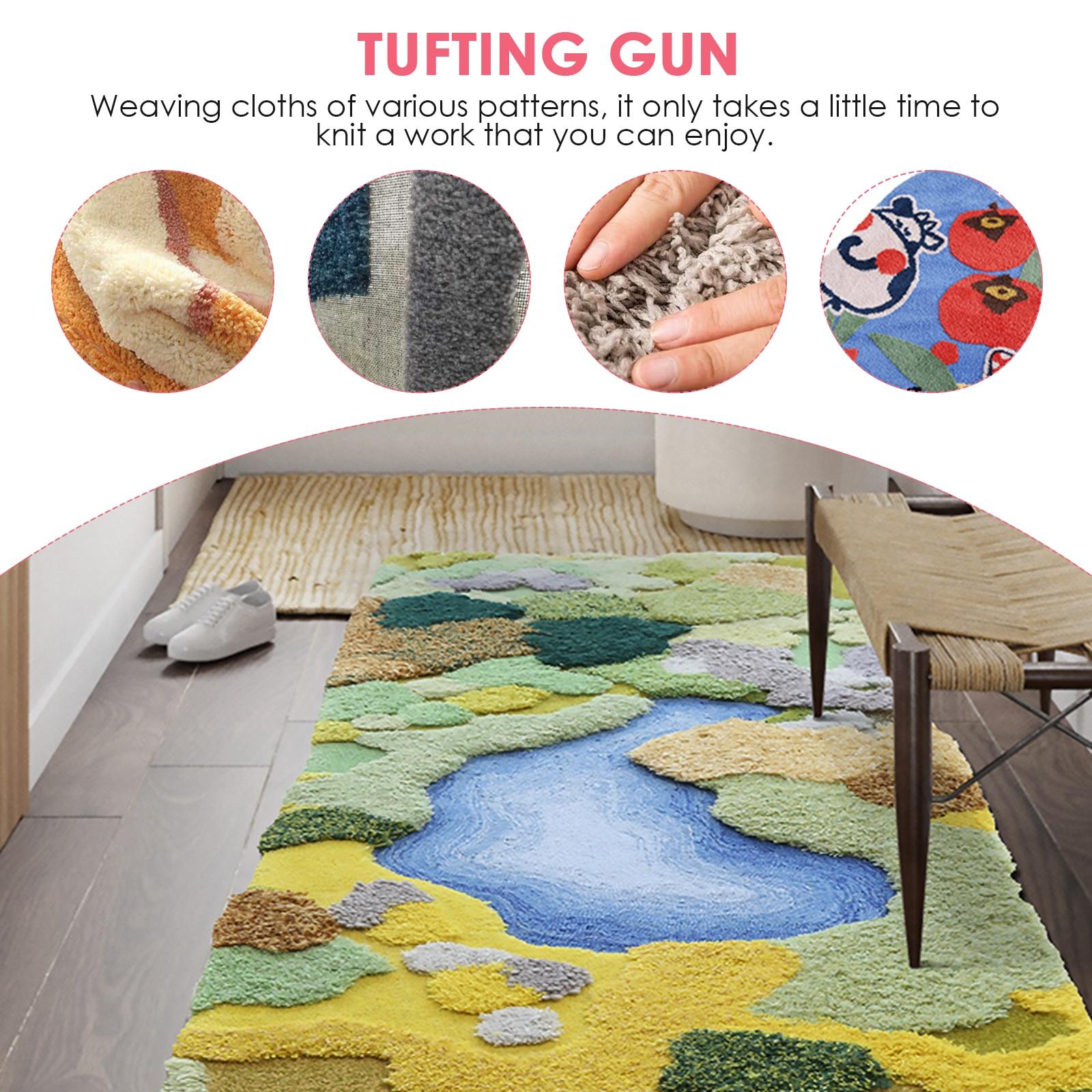 2IN1 Electric Carpet Tufting Gun Rug Kniting Machine Cut Pile and Loop Pile Hand Gun Industrial Carpet Weaving Flocking Machines enlarge