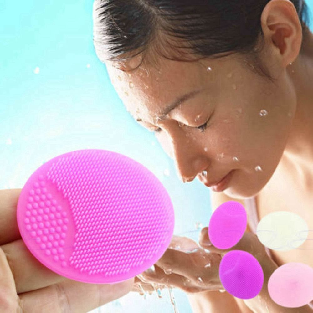1PC Soft Silicone Facial Cleansing Brush Face Washing Exfoliating Blackhead Brush Remover Skin SPA Oval Scrub Pad Cleansing Tool недорого