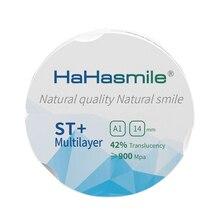 ST + multicouche 95mm prix usine 16 couleurs A1 bloc de zircone prédécoupée pour les blocs de zircone de zircone dentaire de laboratoire dentaire