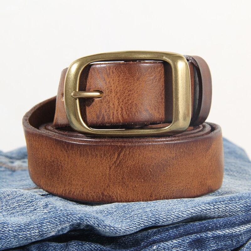 حزام جلد عتيق للرجال ، إكسسوار فاخر مصنوع يدويًا ، جينز ، حزام عريض ، هدية Harajuku