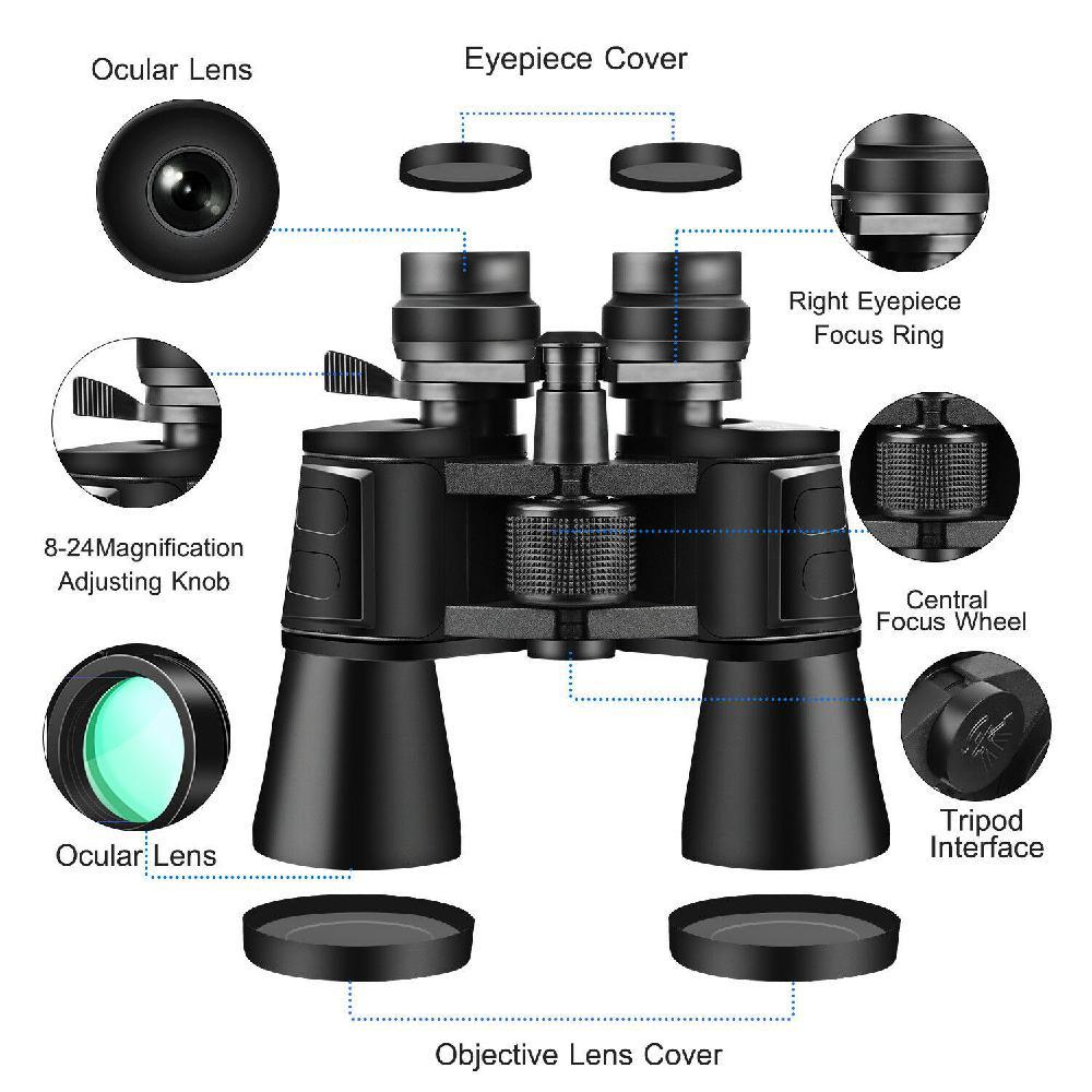 x 100 zoom dia visao noturna binoculos de viagem ao ar livre caca telescopio portatil