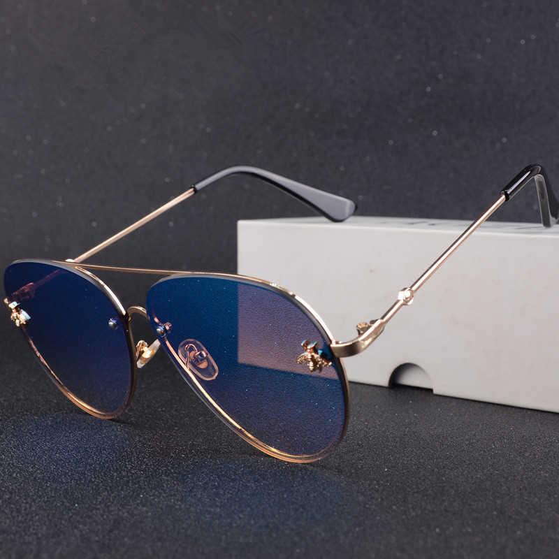 Luxury Brand Designer Female Random 2020 Sunglasses Aeronautics Women Sunglasses Gradient Shades Lit