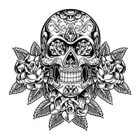 10cm 10cm personality car stickers accessories day of the dead motorcycle cover scratches waterproof pvc