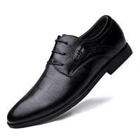 fashion shoes tops shoes fashion men business leather shoes casual pointed toe lace shoe male suit leather formal dress
