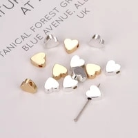 10 heart shaped beads valentines day heart shaped spacer beads pendant for jewelry making bracelets and necklaces diy craft