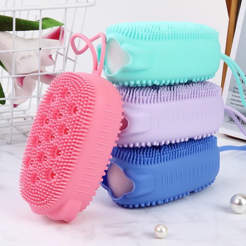 Creative Silicone Bubble Bath Brush Double-Sided Massage Scalp Shower Brush Fast Foaming Bear Full B