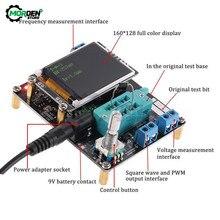 LCD GM328A Transistor testeur Diode capacité ESR tension cc 6.8-12V fréquence mètre PWM onde carrée Signal Gener soudure
