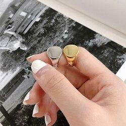 Anel japonês e coreano de dedos, para mulheres e homens, cor dourada e prateada, vintage, redondo, anéis ajustáveis, anéis, joias