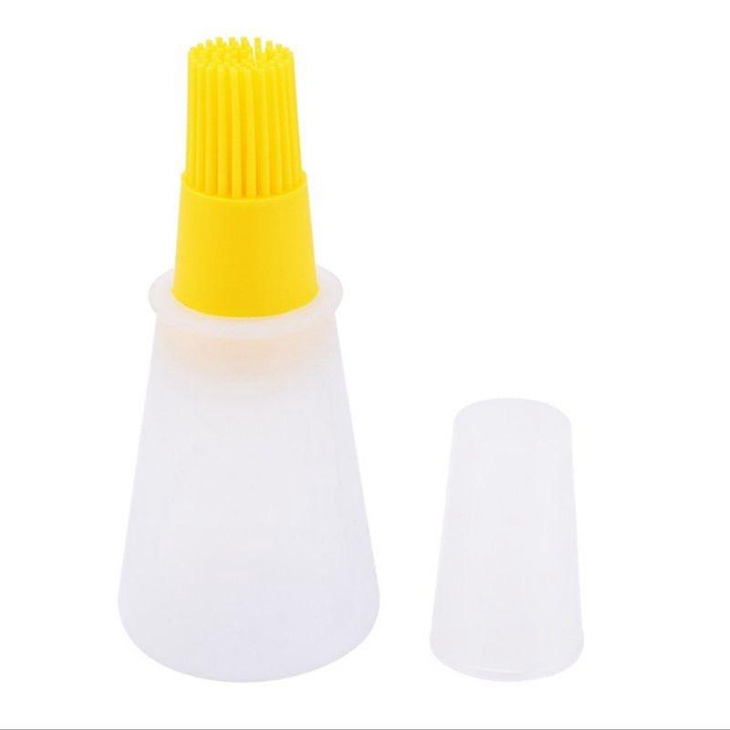 1 портативная силиконовая бутылка для масла с кисточкой, Женская щетка, жидкое масло, кондитерские изделия, инструменты для выпечки, барбекю...