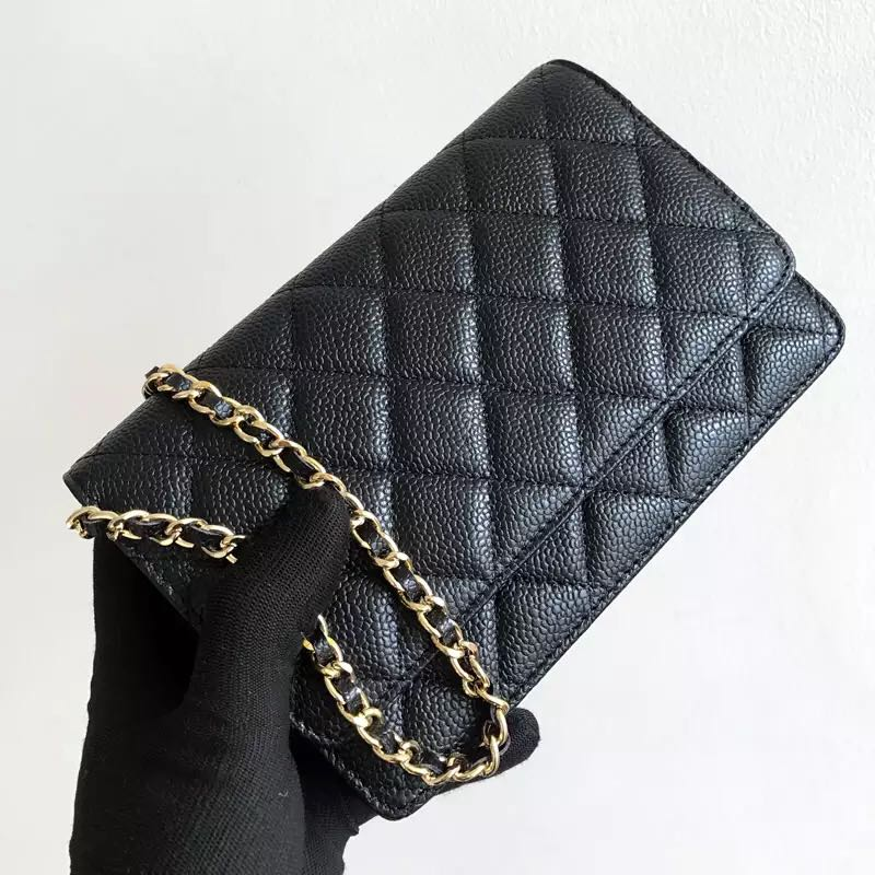 luxury brand woc fashion simple small square bag women's designer high quality real leather chain mobile phone shoulder handbags
