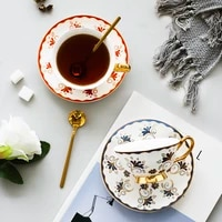nordic ceramic couple coffee cup saucer set home modern design creativity mugs coffee cups saucer porcelain tazas mug bc50byd