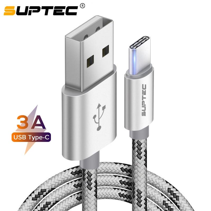 SUPTEC 3A USB tipo C Cable de carga rápida 3,0 USB C...