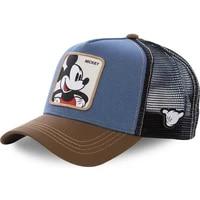 hip hop caps women men sun hat mickey fashion baseball cap cartoon net gauze cap printing donald duck dome hats travel 2021