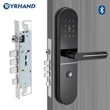 Bloqueo de seguridad con cerrojo eléctrico, aplicación WIFI, bloqueo de pantalla táctil inteligente, bloqueo electrónico Digital sin contraseña para apartamento