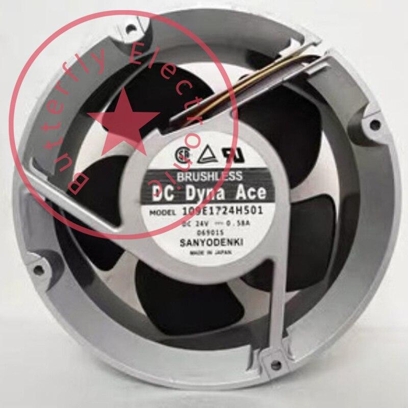 BRAND NEW 109E5724H501 109E1724H501 oryginalny 24V 0.58A aluminiowa rama chłodzenia wentylator chłodzący 17251 172*150*51MM