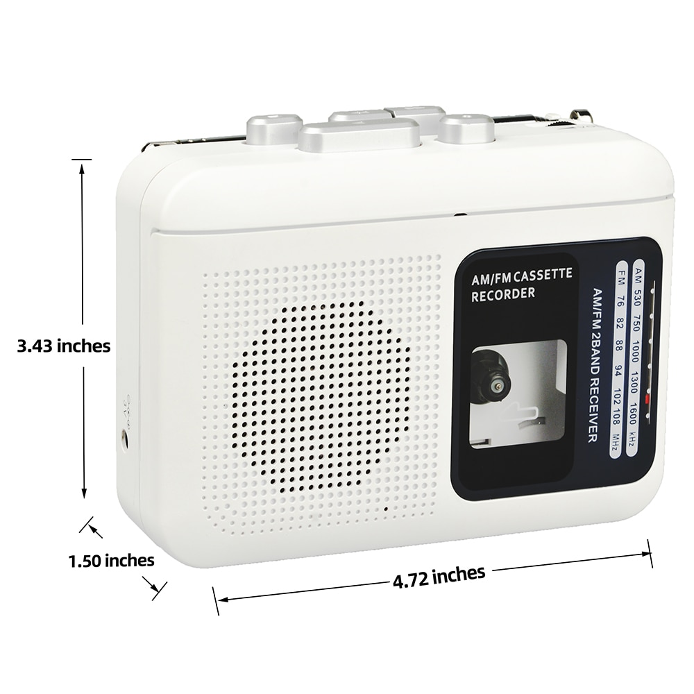 TOMASHI Hot Portable Cassette Player Tape Recorder FM AM Radio Walkman Player with Speakers for Elderly,Students Learning enlarge