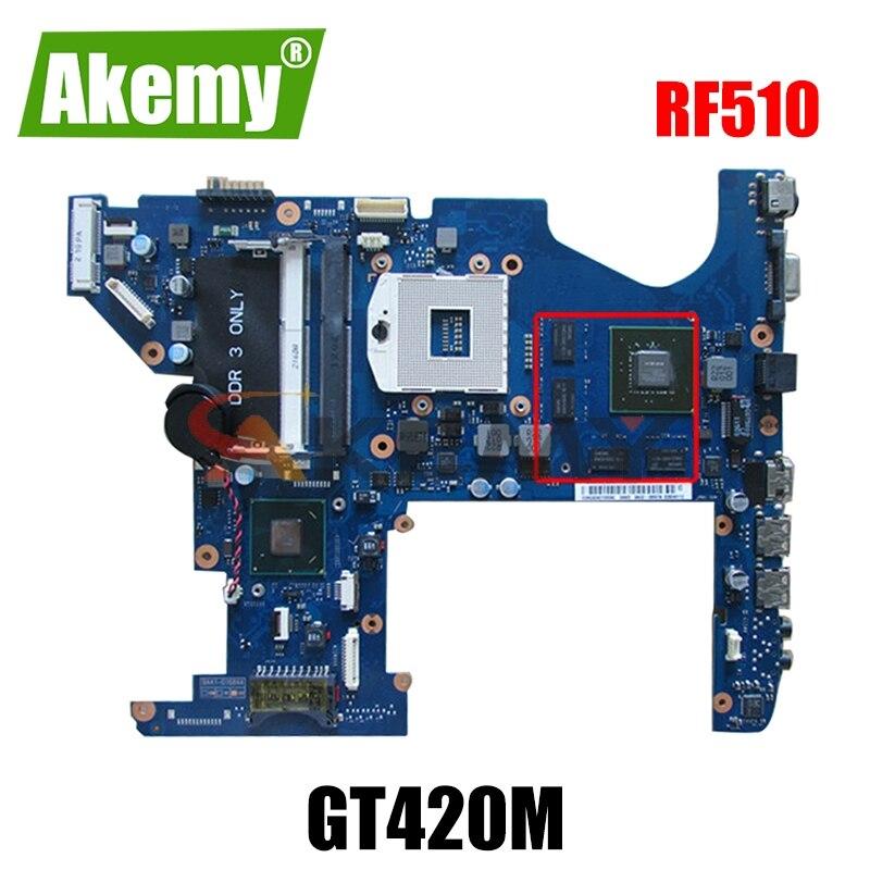 AKEMY BA92-07132B BA92-07132A لأجهزة الكمبيوتر المحمول سامسونج RF510 اللوحة الأم HM55 GeForce GT420M الضمان 60 يوما