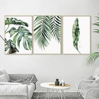 canvas painting painting poster tropical plant poster green leaf modern mural living room bedroom decorative painting poster