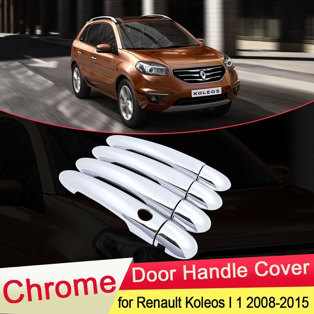 Para Renault Koleos Samsung QM5 que MK1 2008, 2009, 2010, 2011, 2012, 2013, 2014, 2015 cubierta cromada de manija de puerta Trim estilo Accesorios