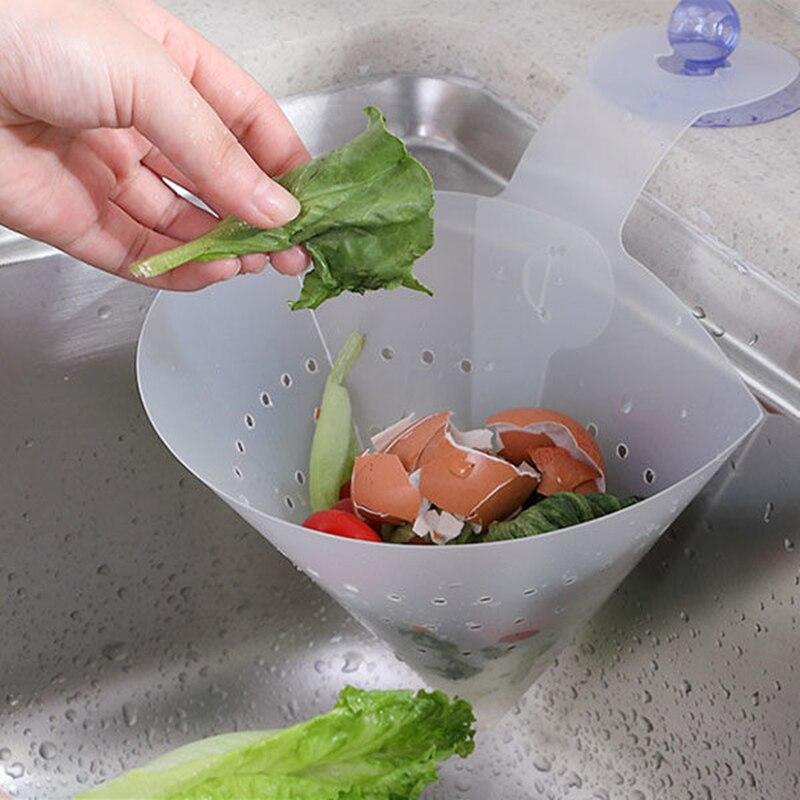 Dispositivo antiobstrucción de cocina, filtro independiente plegable, Cubo de drenaje, tamiz Flexible para alimentos, filtro de lavabo, artículos domésticos