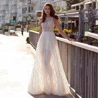 sexy illusion sequin wedding dress 2021 a line stylish bridal party gown for woman cap sleeves floor length vestidos de novia