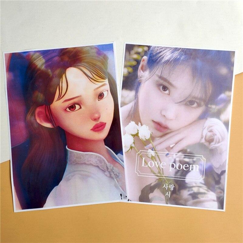 KPOP UI SUGA nuevo álbum ocho cartel tarjeta pegatinas de pared personalizado Banner colección de Fans wj47