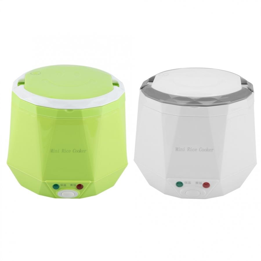 dmwd electric intelligent slow cookers mini timing water stewing soup porridge pots multifunctional ceramic whiteware liner 0 7l 1.6 L Mini Rice Cooker 24V Car Truck Soup Porridge Cooking Machine Thermostat Food Steamer Portable Electric Heating Lunch Box