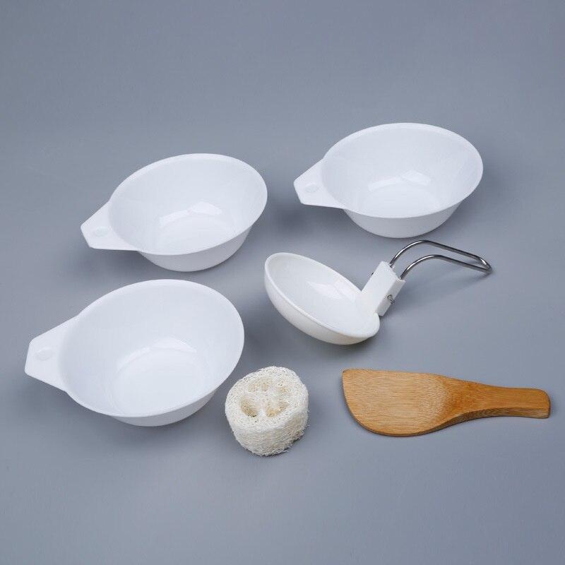 6 unids/set cuenco para exterior juego de utensilios de cocina portátil para Camping senderismo Cookware Backpacking Picnic Bol cuchara arroz cucharón Kit cve
