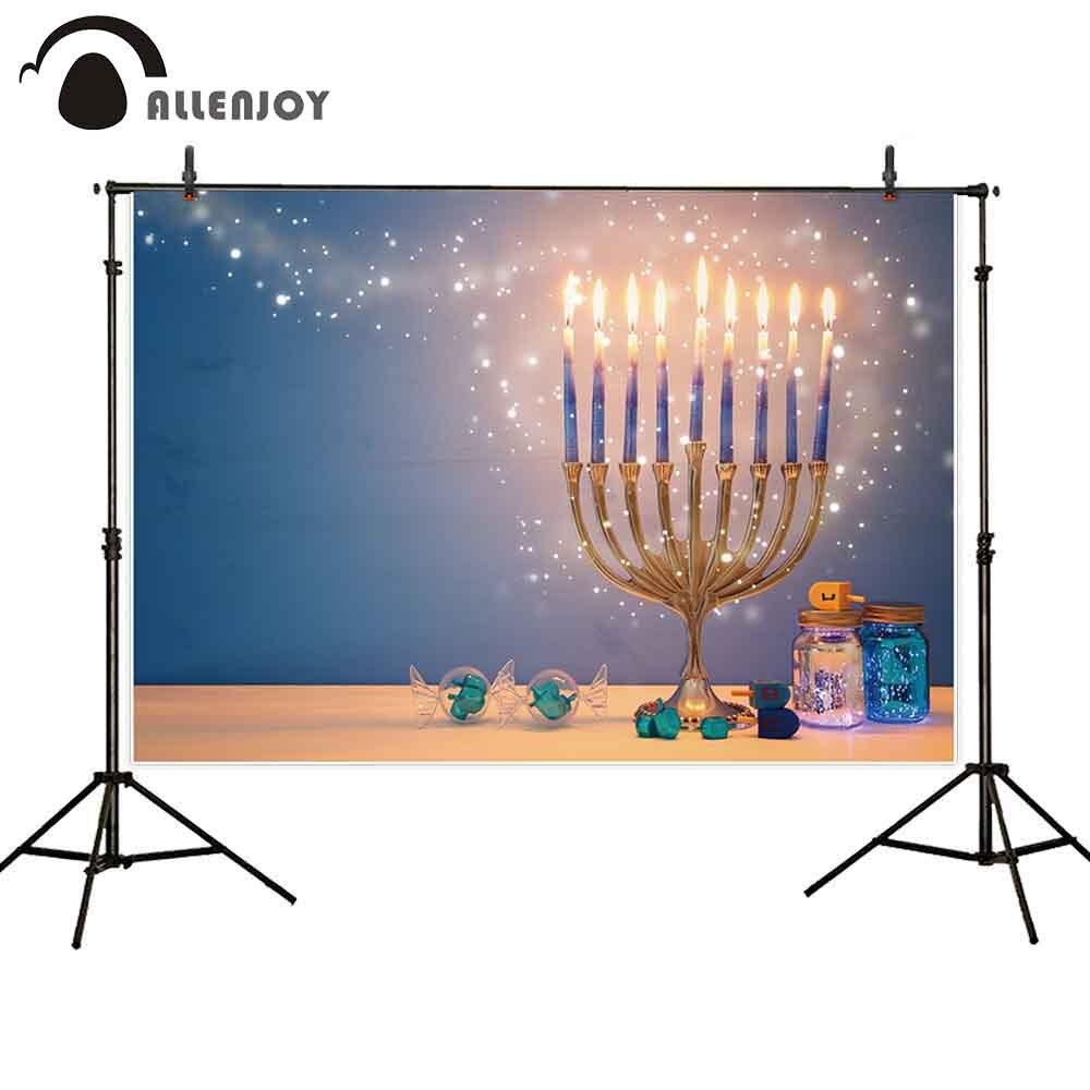 Allenjoy-لافتة حائط للحفلات ، مع شمعدان لامع ، للمناسبات ، إسرائيل ، منطقة الصورة ، المهرجان ، الحفلة