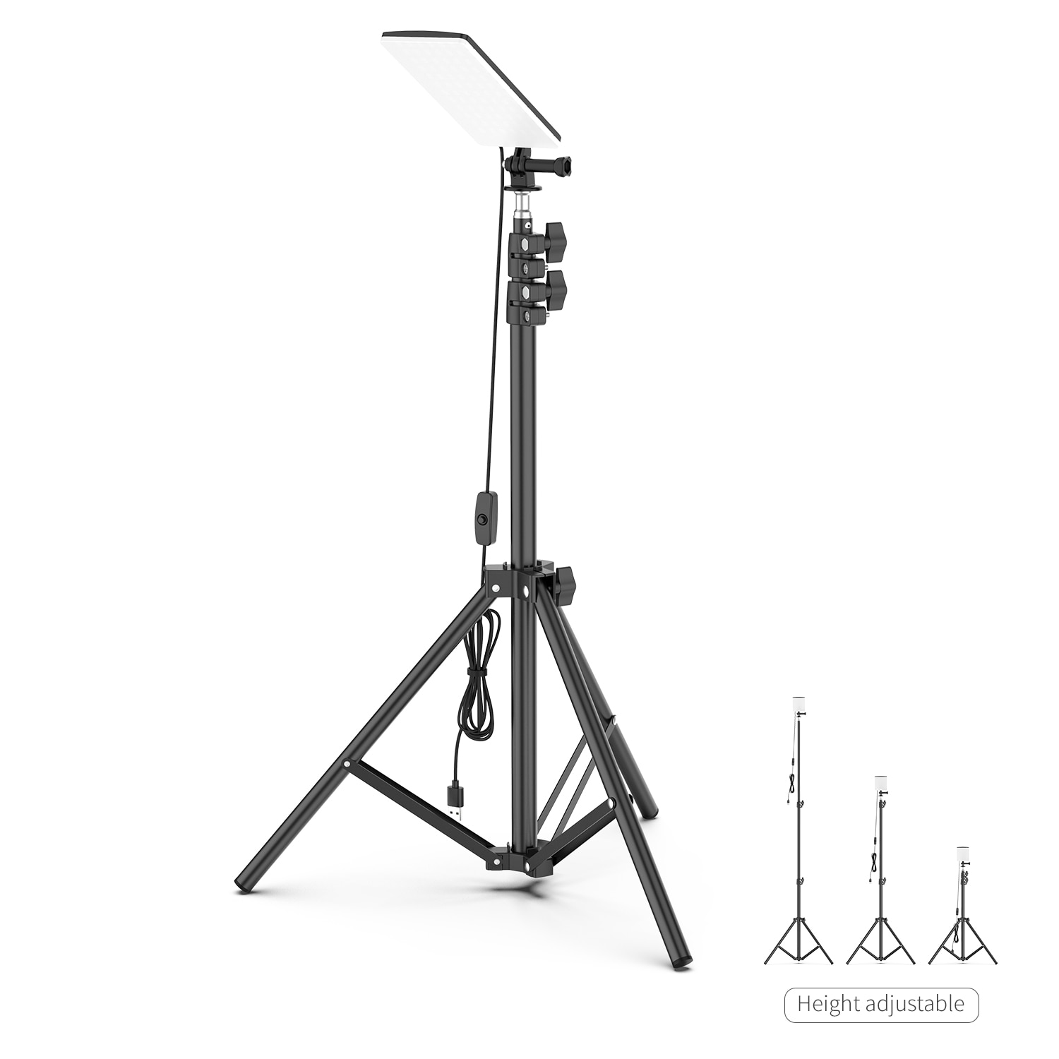 Selfie Camera Lamp with Telescopic Tripod 84PCS LEDs Lamp Light USB Powered Adjustable Height Camping Light  for Live Video Show