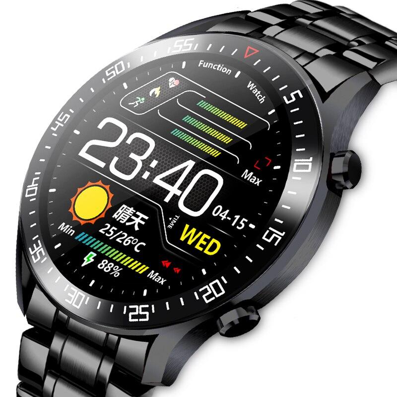 Smart Watch Men IP68 Waterproof Full Touch Screen Sport Fitness Smartwatch Custom Watch Face Push Fo