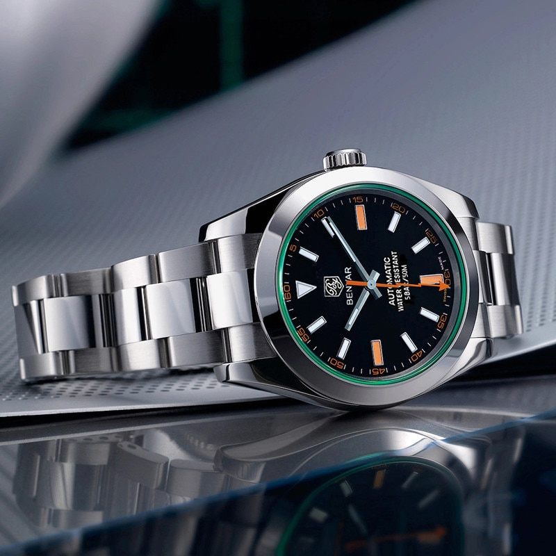 BENYAR 2020 Men Mechanical Wristwatches Stainless Steel Waterproof Sports Men Watches Top Brand Business Men Clock Reloj hombres
