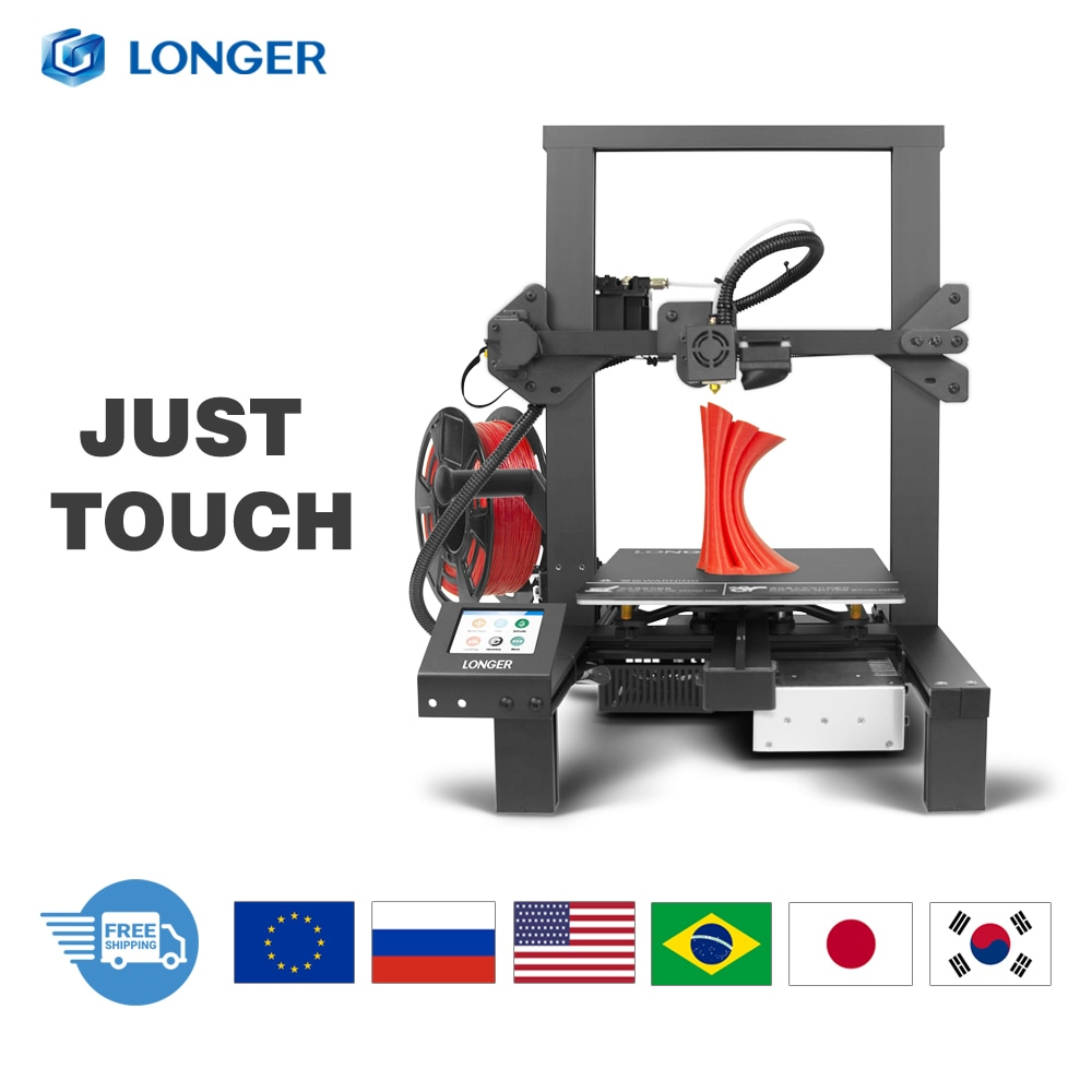 LONGER LK4 3D Printer with Touch Screen Resuming Printing Filament Detector New Frame Design 3D Printer Kit Open Source