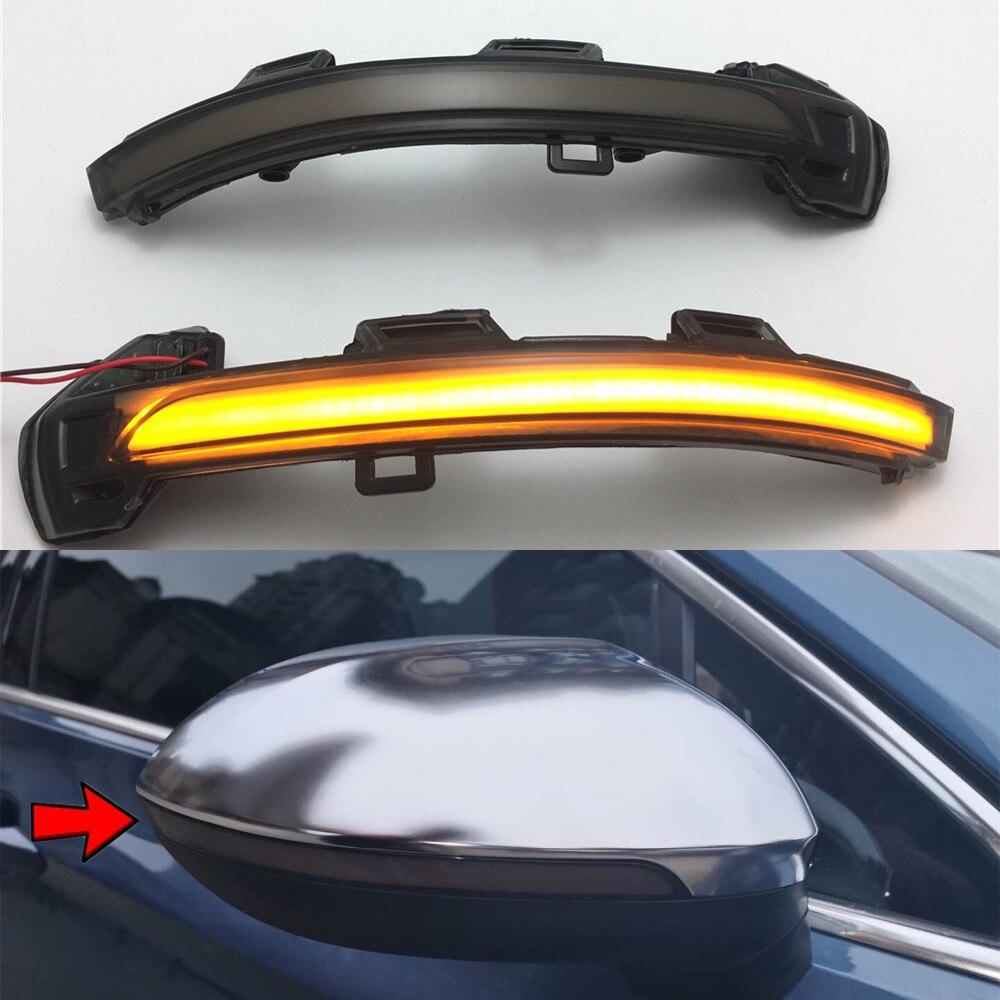 Lámpara LED con indicador de espejo lateral secuencial y señal de giro dinámico para Volkswagen VW Passat B8 2015-2018 y Arteon 2017 2018