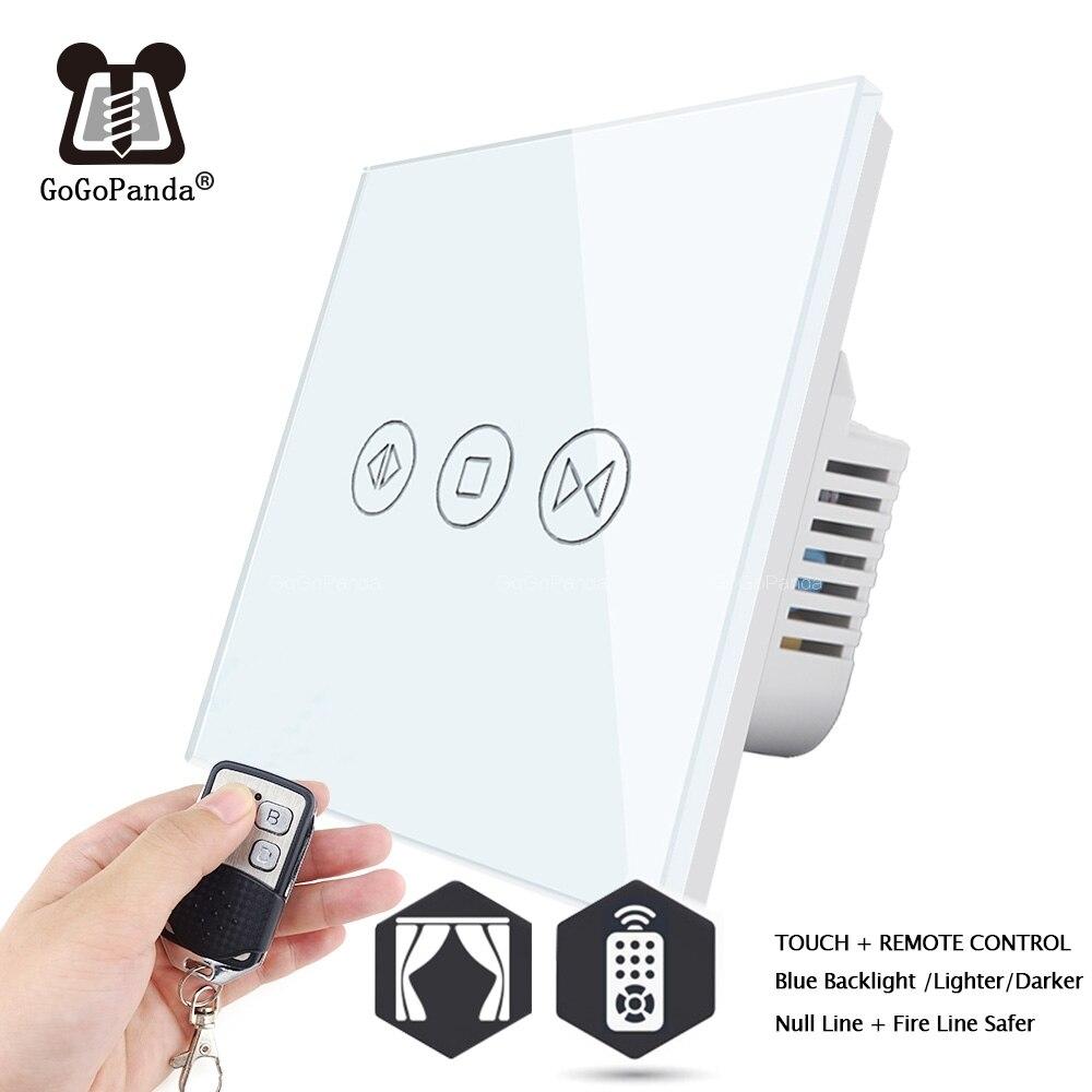 Бесплатная доставка, стандарт ЕС, Электрический настенный переключатель для занавесок, сенсорный пульт, Wifi, приложение, управление, умный д...