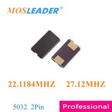 Mosleader 1000 шт 2P 5032 22,1184 MHZ 27,12 MHZ 5*3,2mm 5032 22,1184 M 27,12 M пассивный кристалл осциллятор SMD Кристалл