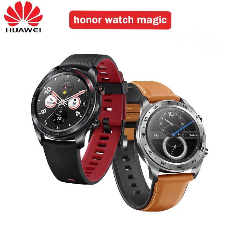 Huawei Honor Watch Magic WaterProof GPS NFC Working 7 Days Message Reminder Heart Rate Tracker Sleep Tracker 1.2 inch Screen