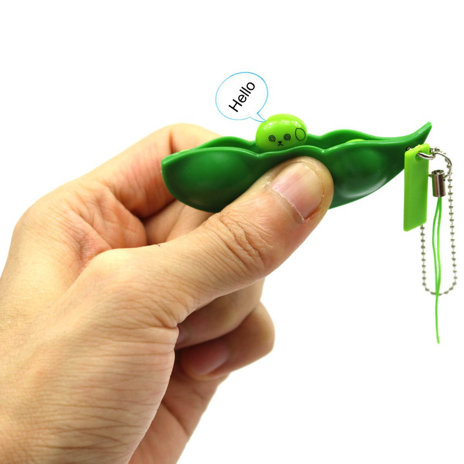 3PC Fidget Toys Adult Kids Fun Peas Beans Toys Keychain Pendants Squishy Squeeze Stress Relief Decompression Toys Stressball 5* enlarge