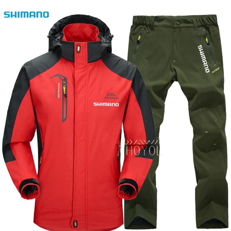 Shimano Fishing Suit Men Waterproof Outdoor Fishing Pants Mountaineering Breathable Fishing Jackets Anti-Wrinkle Fishing Clothes enlarge