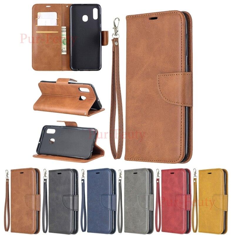 Para samsung a20e a10e 2019 tpu carteira de couro capa para samsung galaxy a30 a20 a10 e a102u caso do vintage flip book capa móvel