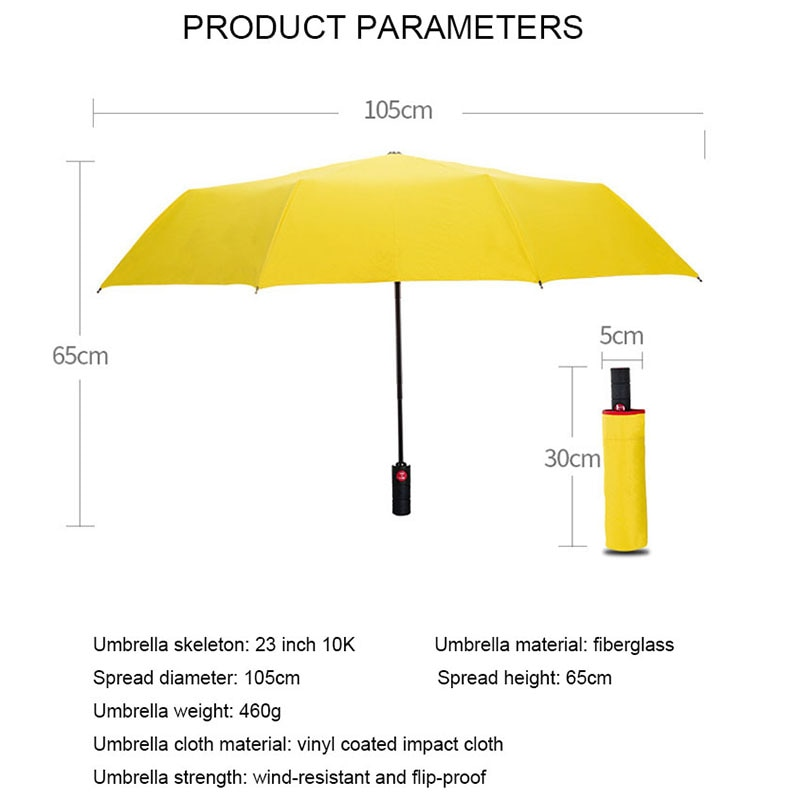 New Full Automatic Business Umbrella Three Folding Male Female Parasol Umbrella Rain Women Windproof Luxury Umbrella Men enlarge