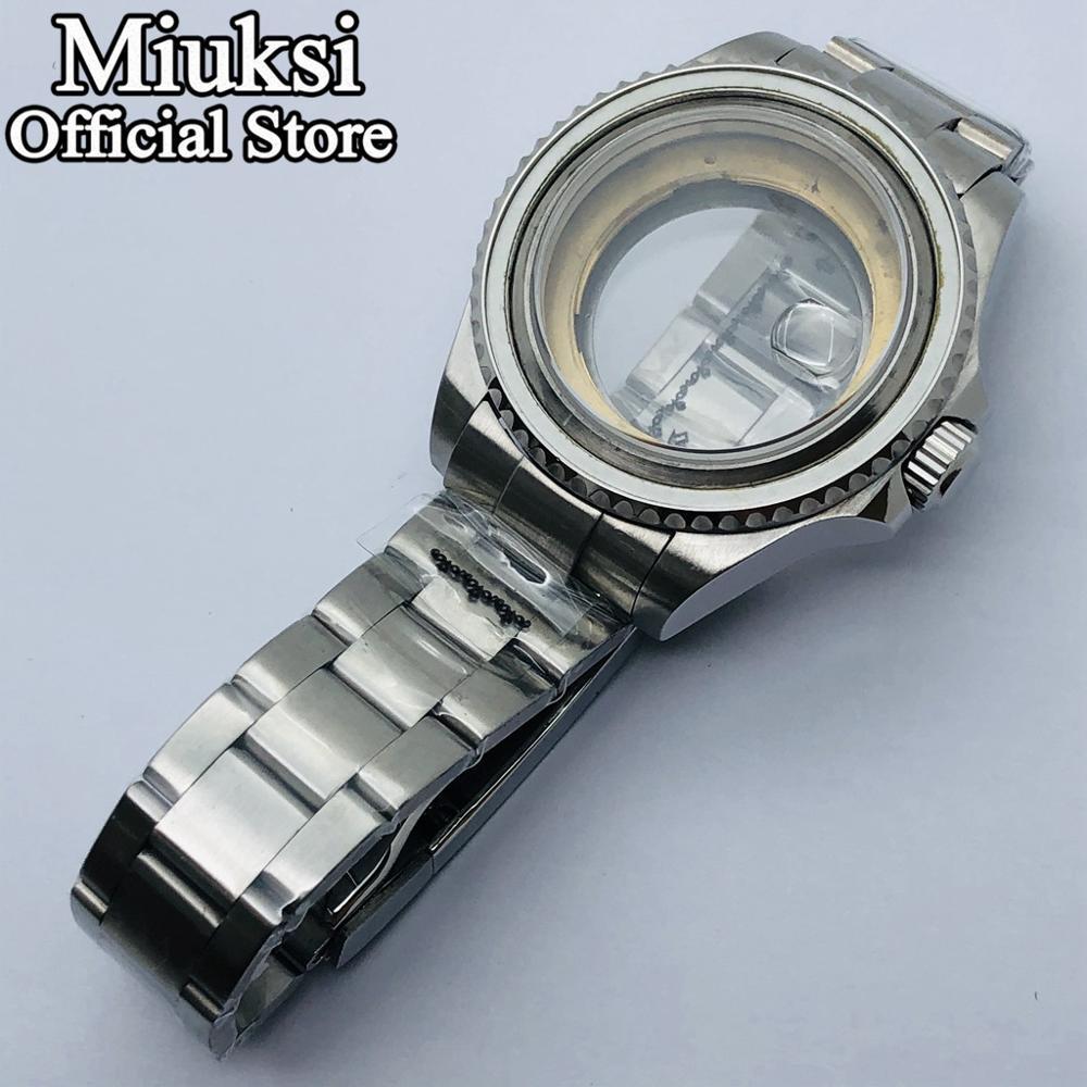 Miuksi 40mm / 43mm transparent case sapphire glass fit ETA2836 NH35 NH36 Miyota 8205 8215 821A Mingzhu DG 2813 3804 movement enlarge