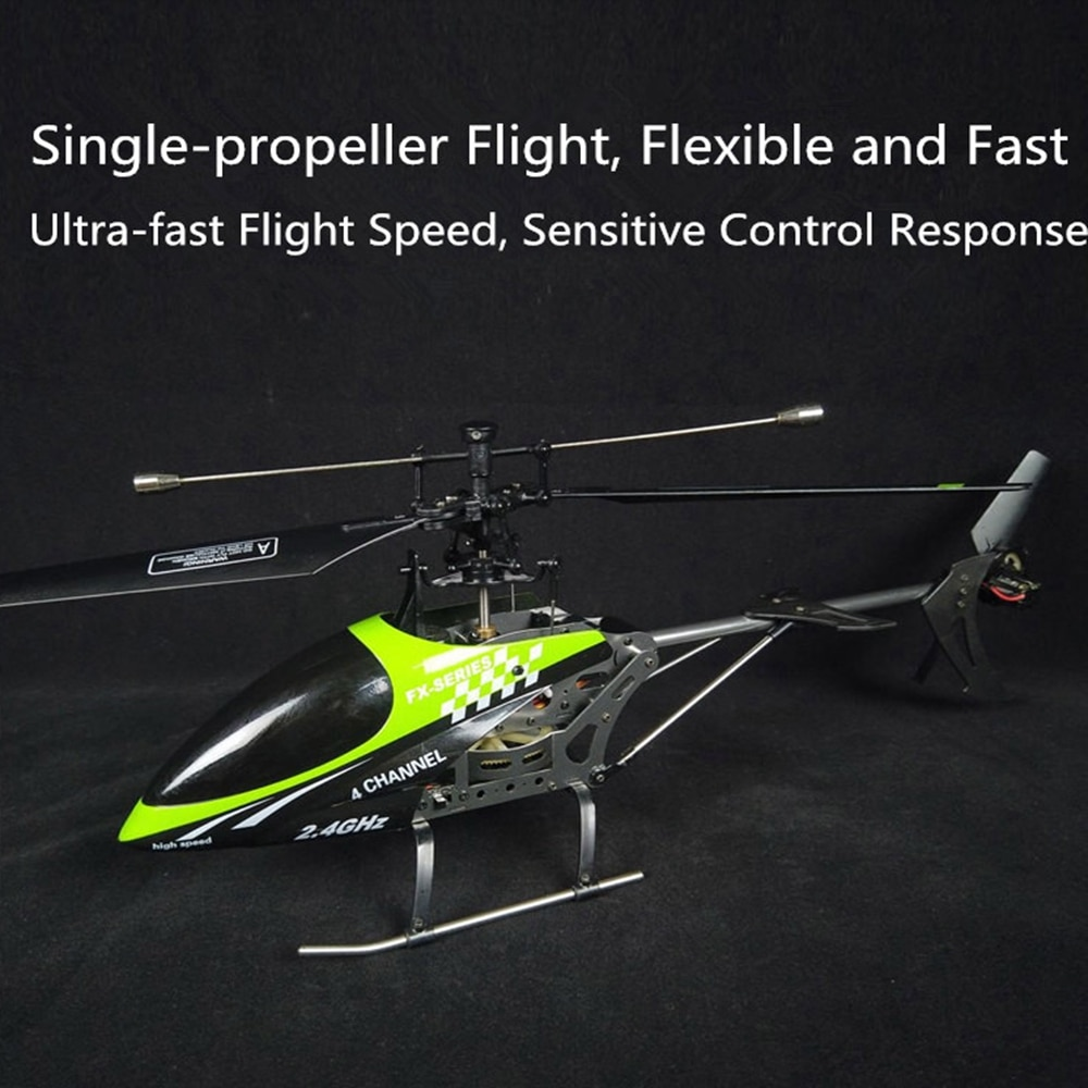 Feilun FX078 2.4G 4CH Single Blade Mode 2 RC Helicopter for Remote Control Aircraft RC Models Toys RTF Boys Outdoor Gifts wltoys v911s rc helicopter 2 4g 4ch 6 aixs stunt gyroscope flybarless rtf 3 7v 250mah rtf bnf model toys lipo battery rc airplan