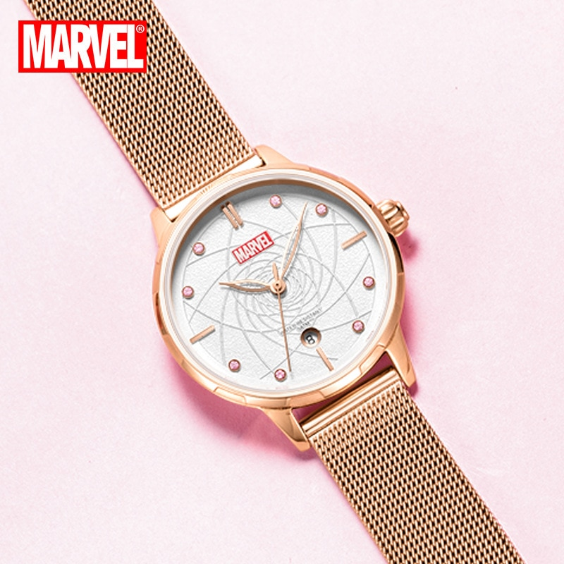 Original Marvel Ladies Quartz Watch Belt Mesh Belt Casual Simple Calendar Watch Watches for Women Free Shipping Items for Women enlarge
