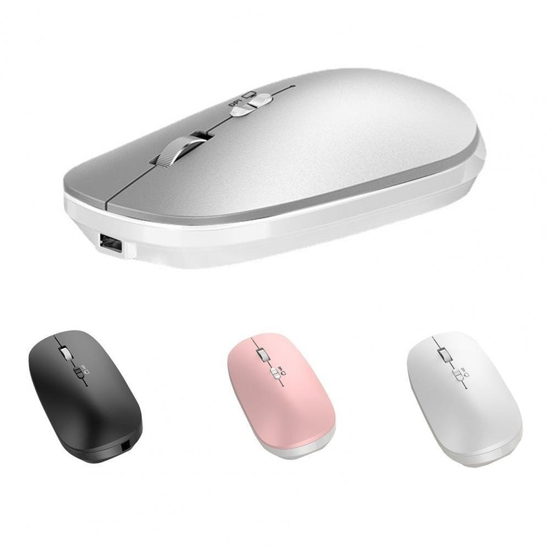 WL169 2.4Ghz Bluetooth 5.0 Dual mode Wireless Mouse 800/1200/1600 DPI Rechargeable Portable Optical Mice for office
